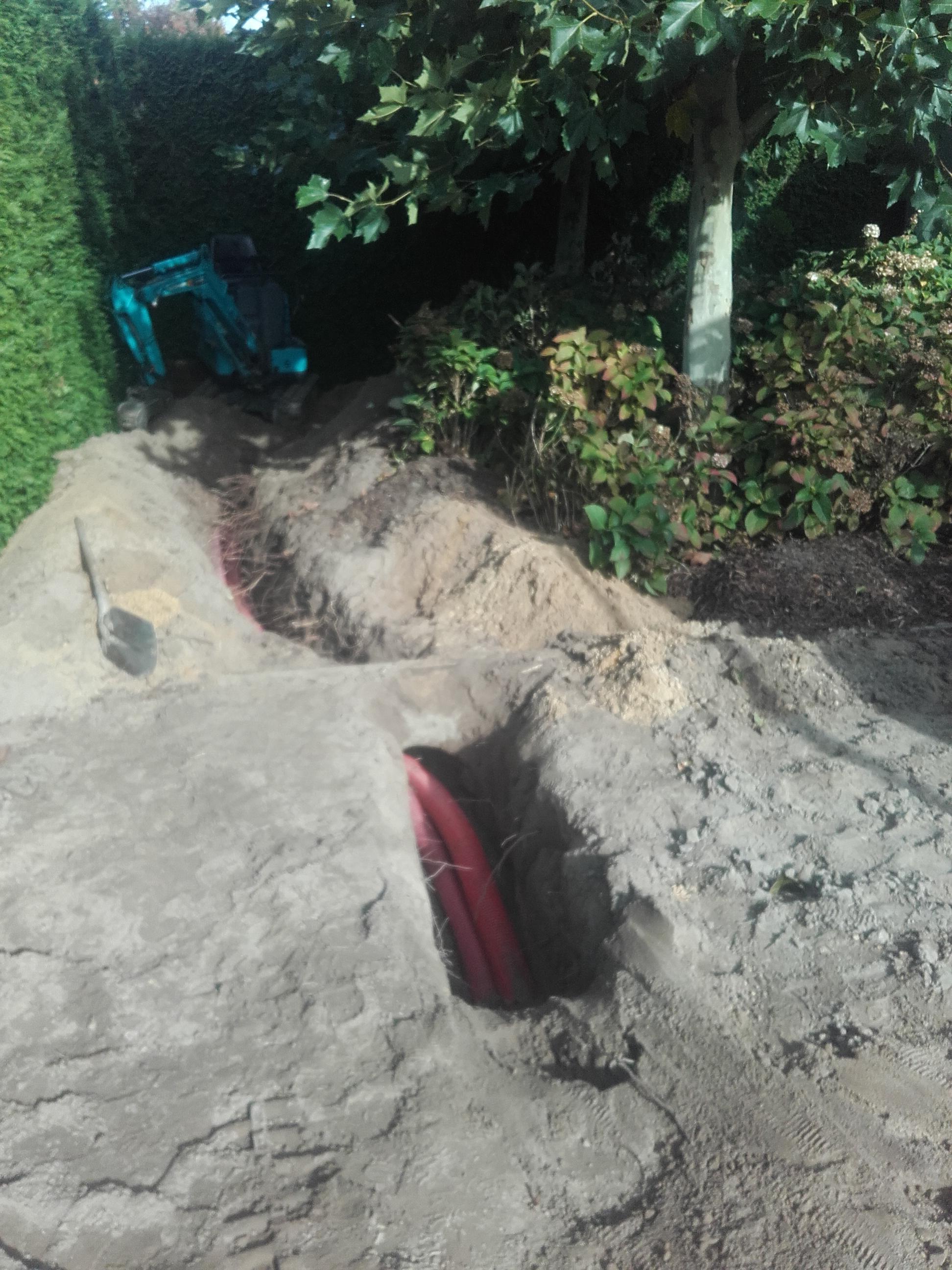 voorbereidingswerken tuinverlichting 'Wingene'